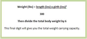 max weight formula